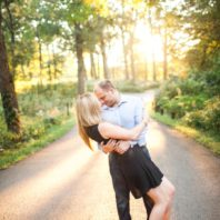 romantic engagement photographs