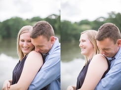 outdoor engagement photographs in wheaton
