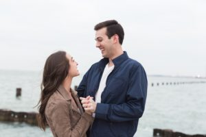 Winter Engagement Session in the City